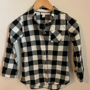 NWOT cat and jack little girls flannel